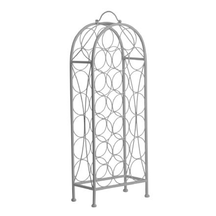 Cafe Cassis Grey Powder Coated 20 Bottle Metal Wine Rack